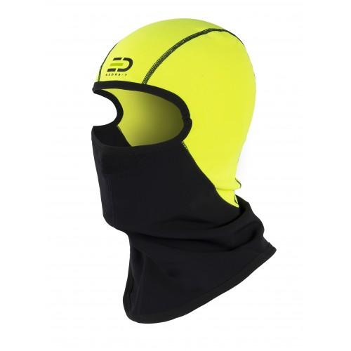 Helmet Liner Technical Fleece Wind&Rain Proof Yellow Fluo