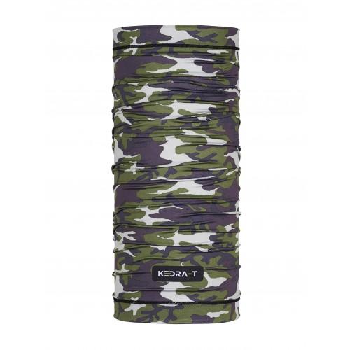 Bandana Media Green Camouflage