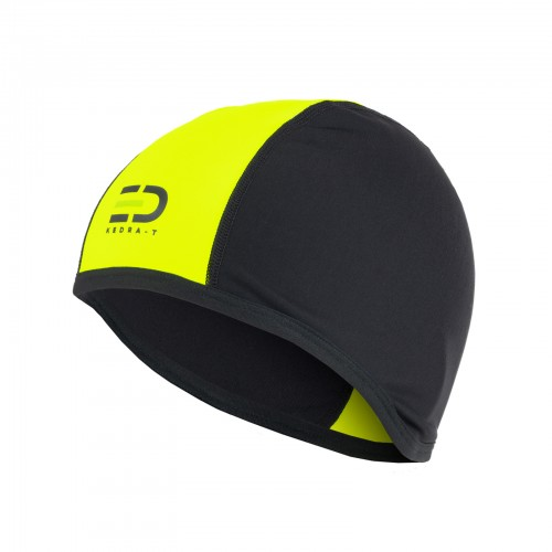 Helmet Liner/Skullcap Technical Fleece Black&Yellow Fluo