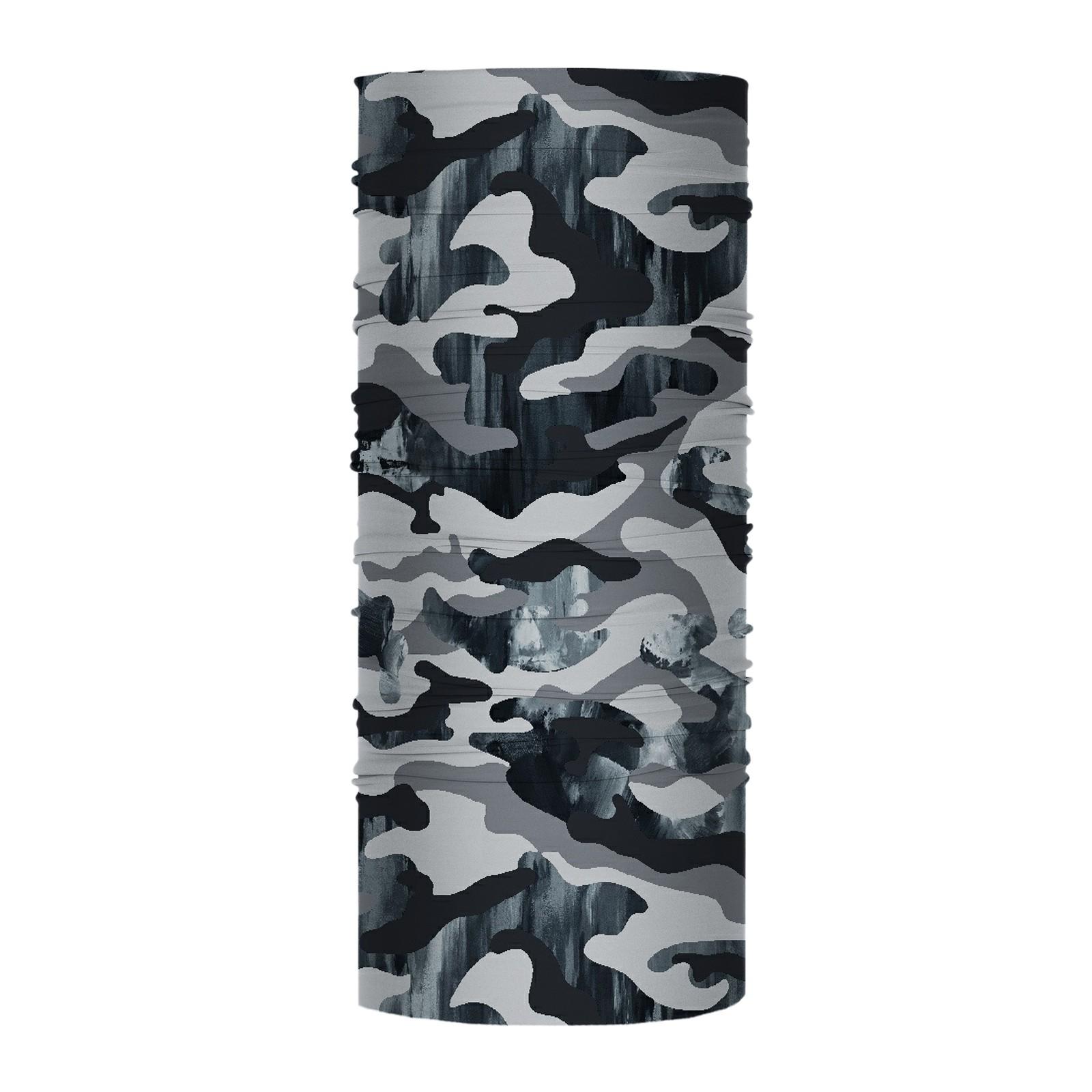Bandana Media Grey Camouflage