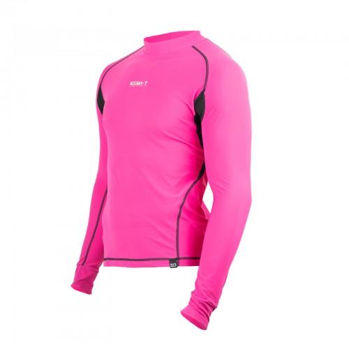 T-Shirt Thermoregulating technical micro-fleece and polypropilene - Fuchsia