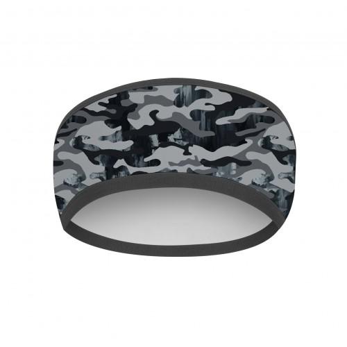 Fascia Testa Fantasia Grey Camouflage